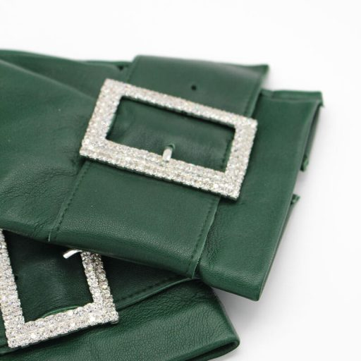 mitones-guantes-piel-hebilla-piedras-strass-Audrey-emeral-verde-Armèlle-Spain-1