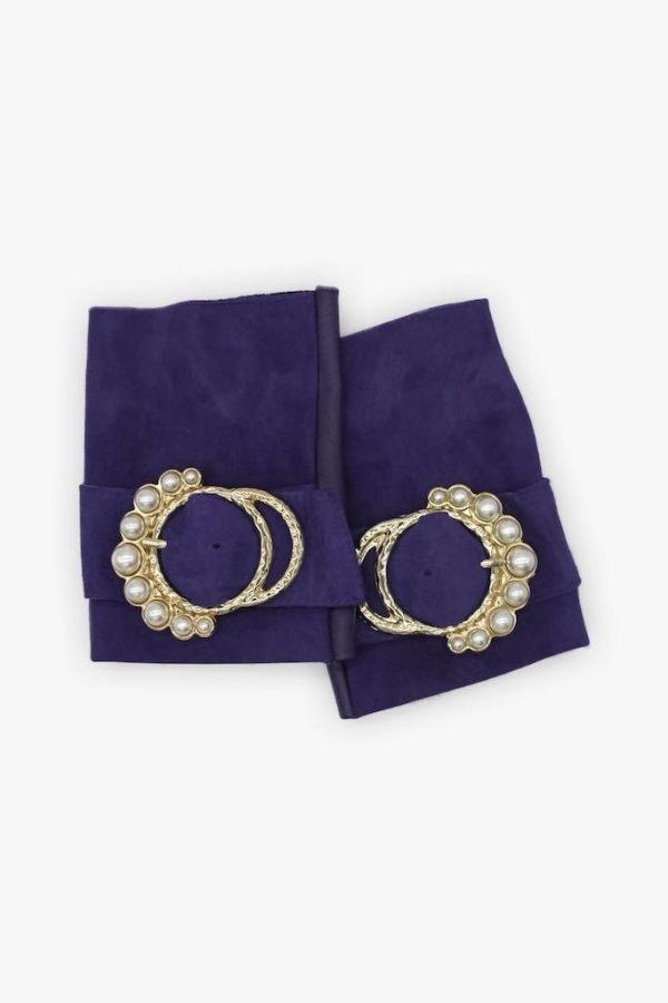 mitones-elegantes-cuero-perla-violeta-hebilla-perlas-Armèlle-Spain-1